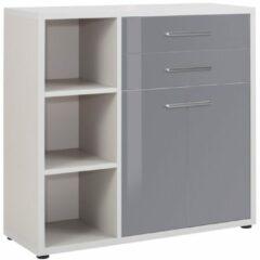 Bermeo Commode Banco 110 cm hoog - Platina grijs met grijs