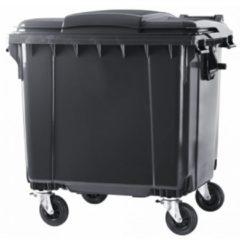 ESE 4 wiel afvalcontainer 660 liter grijs