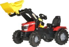 Rode Rolly Toys FarmTrac Massey Ferguson - Traptractor met Frontlader
