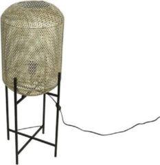 Goudkleurige Countryfield Tafellamp Zackari E27 39 X 108,5 Cm Staal Goud