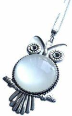 Zilveren 2 Love it Uil W - Ketting - Lengte 46 cm