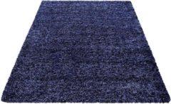 Decor24-AY Hoogpolig vloerkleed Life - marineblauw - 200x290 cm