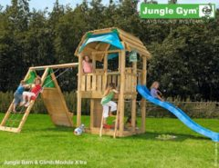 Jungle Gym | Barn + Climb Module X'tra | DeLuxe | Blauw