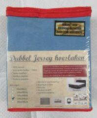 Merkloos / Sans marque DUBBEL JERSEY HOESLAKEN   180X200CM   BLAUW   200GR/M²