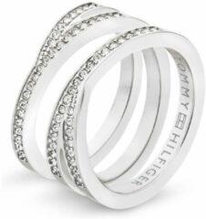 Tommy Hilfiger TJ2701098 Ring staal zilverkleurig Maat 58 (E)