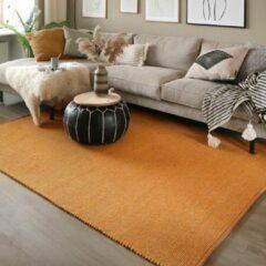 Fraai Wollen vloerkleed - Wise Geel No. 378 140x200cm