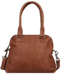 Bruine Cowboysbag Bag Carfin Schoudertas Cognac 1645
