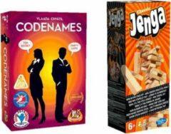 Hasbro Spelvoordeelset Codenames - Gezelschapsspel & Jenga Classic - Gezelschapsspel
