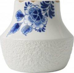 Zwarte Heinen Delfts Blauw bloesem vaas 3