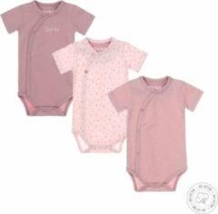 Paarse Dirkje Baby Meisjes 3 Pack Rompertje - Maat 74/80