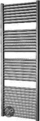 Douche Concurrent Designradiator Plieger Palermo 170,2x60cm 921 Watt Antraciet Metallic Zijaansluiting