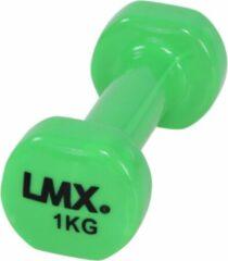 LifeMaxx LMX Dumbbells - 2 x 1,0 kg - Vinyl - Groen
