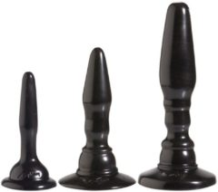 Zwarte Doc Johnson (all) Driedelige anaal kit