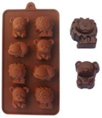 Bruine Kitchen Princess - Siliconen Chocoladevorm Dieren - Fondant Bonbonvorm