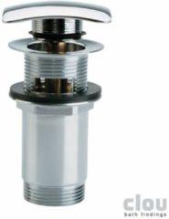 Clou InBe stop go afvoerplug zonder overloopgat vierkant chroom Universeel toepasbaar B6.9xD6.9cm IB/06.51007