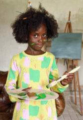 Gele Oilily Sweatjurkje met een kleurrijke print