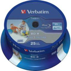 Verbatim 43811 Blu-ray BD-R SL disc 25 GB 25 stuks Spindel Bedrukbaar, Antikras-coating