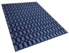 Blauwe Beliani Cizre Vloerkleed Viscose 160 X 230 Cm