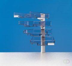 Hansa Styro Brievenbakje met 4 brievenbakjes, lichtgrijs