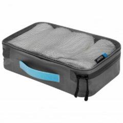 Cocoon - Packing Cube With Open Net Top - Pakzak maat L - 35 x 26 x 8 cm, grijs/zwart
