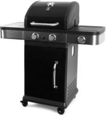 Garden Grill Prestige Gasbarbecue - 2 branders incl. zijbrander - Zwart / RVS