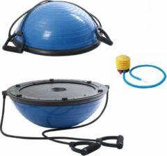 Petasos Balanstrainer - Balansbal met Fitness Elastieken - Inclusief Pomp - Balans trainer - Blauw