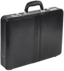 Zwarte Dermata Business 1242 Leather Attaché zwart