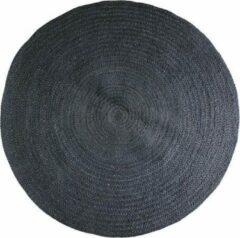Home Delight Jute rond - Vloerkleed - 130cm - Zwart
