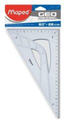 Transparante Maped Office Maped winkelhaak Geometric 26 cm, 60gr