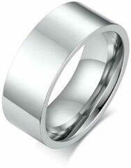 TrendFox Hoogglans Gepolijste Ring   Zilver Kleurig   18 - 19mm   Kort   Ringen Mannen   Ring Heren   Ring Mannen   Cadeau voor Man   Mannen Cadeautjes   Sinterklaas Cadeau   Sinterklaas Cadeautjes