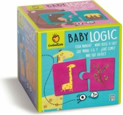 Ludattica Puzzels: WIE EET WAT? - Baby Logic 12x12x12cm, 10 2-delige puzzels, 3+