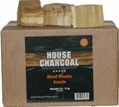 House of Charcoal Rookhout Chunks Acacia - Smoking wood Acacia Chunks - 5 kg