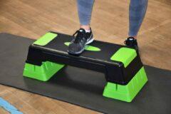 Urban Fitness Stepbank 71,2 X 30,1 Cm Zwart/groen 3-delig