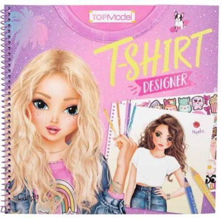 Afbeelding van TOPModel kleurboek T-shirt Designer meisjes 24 cm papier