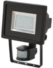 BRENNENSTUHL SMD-LED-Leuchte L DN 2405 PIR IP44 mit Infrarot-Be wegungsmelder 24x0,5W 950lm schwarz Energieeffizie
