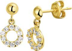 Goudkleurige The Jewelry Collection Oorhangers Zirkonia - Geelgoud