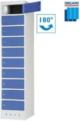Blauwe Orgami Laptoplocker 10-vaks met stroomvoorziening