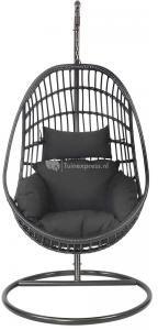 Afbeelding van Zwarte Outdoor Living Hangstoel Sturdy black