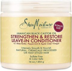 Shea Moisture Jamaican Black Castor Oil Strengthen and Restore Leave-in Conditioner, 16 Oz 454g.