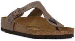 Bruine Slippers Birkenstock GIZEH BROWN OILED