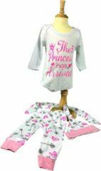 "Roze Baby Rompertje, ""The Princess has Arrived"", Prinsesje, Koningin, Queen, FIFO Romper"