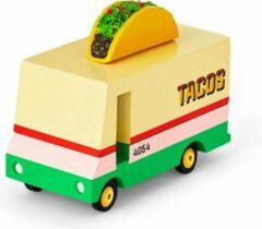 Rode Candylab Toys - Taco Van - Houten speelgoed auto bus