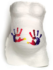 Witte BabyArt Baby Art Belly Kit gipsbuik