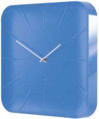Sigel Artetempus Inu - Klok - Vierkant - Kunststof - 35x35 cm - Blauw