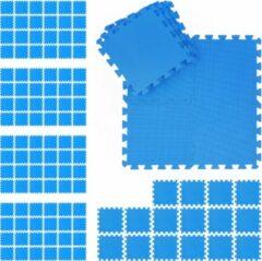 Blauwe Relaxdays 120x fitness matten - schuimstof - beschermmat - sportmat - puzzelmat - vloermat