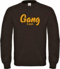 Gele merkloos sans marque wintersport sweater zwart gang is alles sobad.