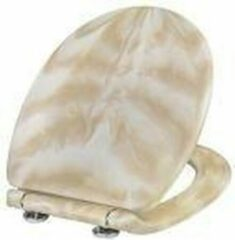 Bruine Cornat Werit Chromat toiletbril