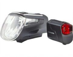 Zwarte Trelock LS 560 I-GO Control Front Light Set - Fietslampen (setjes)
