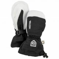 Hestra - Kid´s Army Leather Heli Ski Mitt - Handschoenen maat 4 zwart/grijs/wit