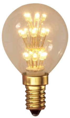Afbeelding van Getsales Calex kogellamp LED pearl 1W (vervangt 10W) kleine fitting E14